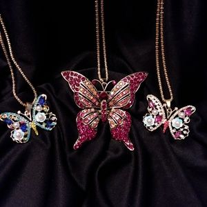 Jewelry - Pretty! Crystal Butterflies-Price is for 1- Read